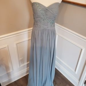 NWT Sample Sale Dessy Collection Strapless Gown